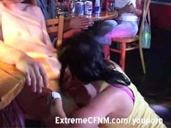 Male Stripper party girls suck cock