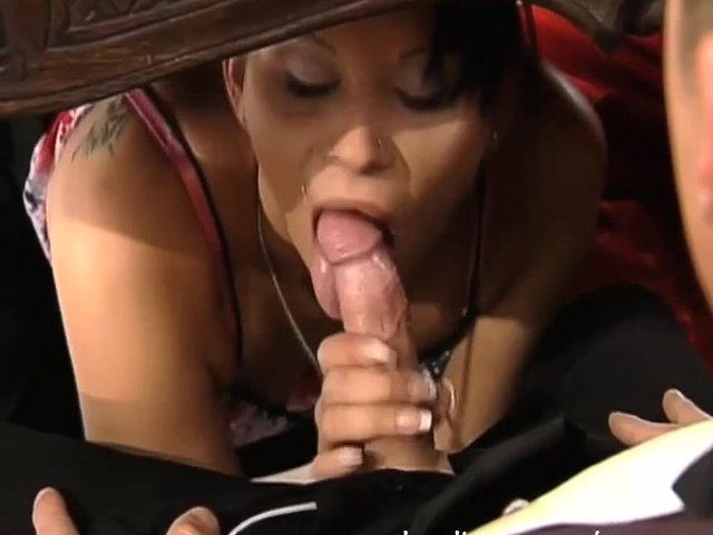 blowjob under table