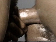 Pounding his ass with my big black cock