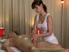 DaneJones HD Sexy massage from cute busty brunette woman