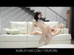 Nubile Films - Lesbian Lovers suck sweet pussy juices