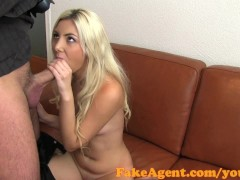 FakeAgent Cute blonde angel covered in spunk