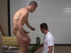 Friend Sucks My Cock In The Garage - Factory Video