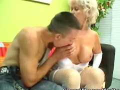 Cock Sucking Granny In Lingerie
