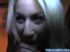 PublicAgent Pretty blonde fucks a big cock in a public car park
