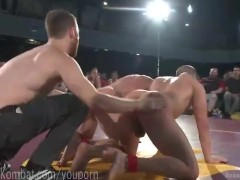 Live Tag Team Nude Wrestling Match