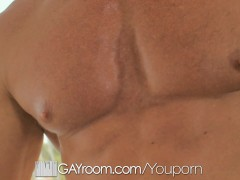 GayRoom - Blindfolded muscle Tyler Saint fucks Conner Habib