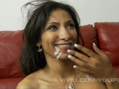 Sadie Santana gets a threeway with to big dick brothers