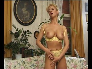 Lingerie Busty Orgasm video: Horny Slut Climxes With Her Fingers - Julia Reaves