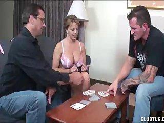 Cumshot Handjob video: Blonde Babe s Boob Exposure Makes His Cock Go Big