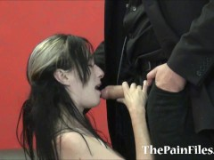 Kinky spanking and rough blowjob of dominated slavesex sub Fae