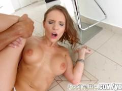 Tall brunette Mary Wet anal hardcore on Ass Traffic