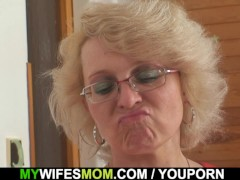 He fucks old mother inlaw