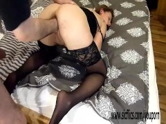 Hot amateur babe rough fisting in bondage