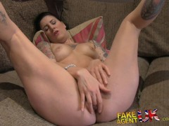 FakeAgentUK Anal casting with rubber clad cock