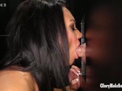 Gloryhole Secrets brunette milf loves her cumshots