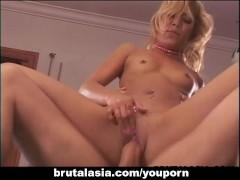 Skinny ass Asian blonde bombshell  table fucked