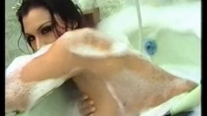 nice indian girl take bubblebath