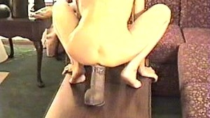 Girl riding huge sybian