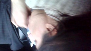 girl giving blow job in the car