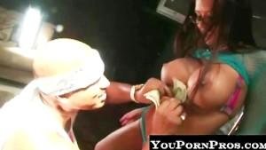 Stripper gets huge cumshot on glasses!