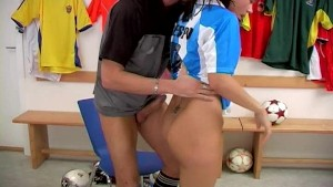 soccer babe addiction blowing & screwing
