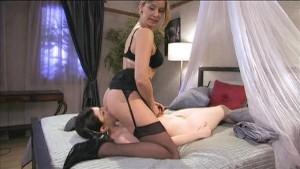 Beautiful lesbian anal play