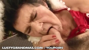 Granny celebrate the New Year