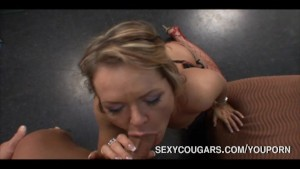 Sexy Cougar Ravishes Studs Dick