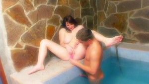 Getting hot outside the pool water pt 3/4