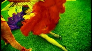 Purple and Red feather dancers