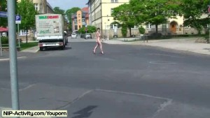 Jeamie - Hot Public Nudity Movie With Horny Babe