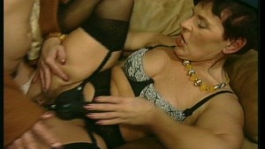 Horny old ladies lick and kiss each other part 2