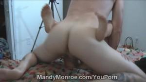 Petite Blonde Takes Large Cock Creampie
