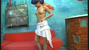 Crazy manga dressed girl strips for you