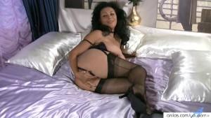 Masturbating Milf In Lingerie Dildo Fuck