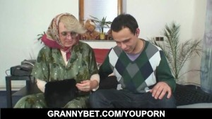 Lonely granny gives her old body to a stranger