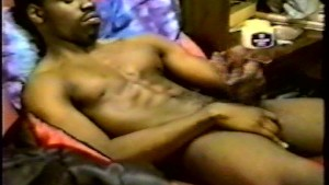 Man w/ afro rubs vaseline all over his cock. #2