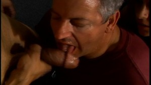 Hot blonde and an old man share a big cock