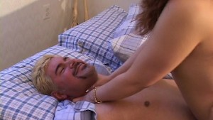 Hot piece of ass rides his hard cock