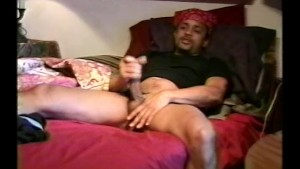 Black guy alone with his cocks