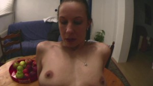 POV sex at the kitchen table