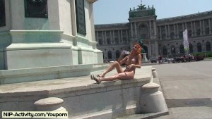Spectacular Public Nudity With Redhead Janette