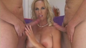 Hot Blonde Gets Nasty With Two New Lovers