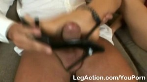 Cloe s special footjob massage on couch