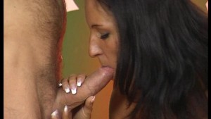 Big Breasted Brunette Sucks Like a Champ - DBM Video