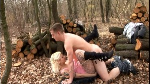 German chick gets wood piled - DBM Video