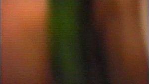 Cutie gets clean and plays with a cucumber - Inferno Productions
