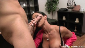 BIG TIT BRUNETTE PORNSTAR FUCKS BOSS S BIG DICK D