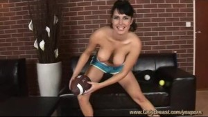 hot girl playing with all balls